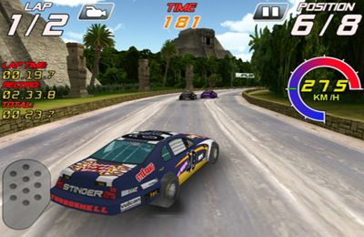 Screenshots of the Speedway Racers game for iPhone, iPad or iPod.