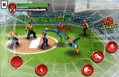 Capturas de pantalla del juego Spider-Man Total Mayhem para iPhone, iPad o iPod.