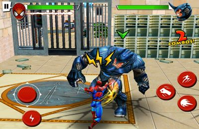 Screenshots do jogo Spider-Man Total Mayhem para iPhone, iPad ou iPod.