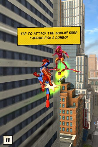 Screenshots of the Spider-Man unlimited game for iPhone, iPad or iPod.