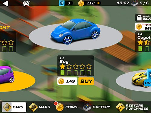 Screenshots of the Splash cars game for iPhone, iPad or iPod.