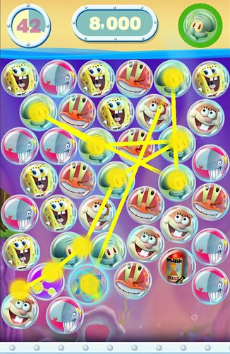 Download Sponge Bob: Bubble party iPhone free game.