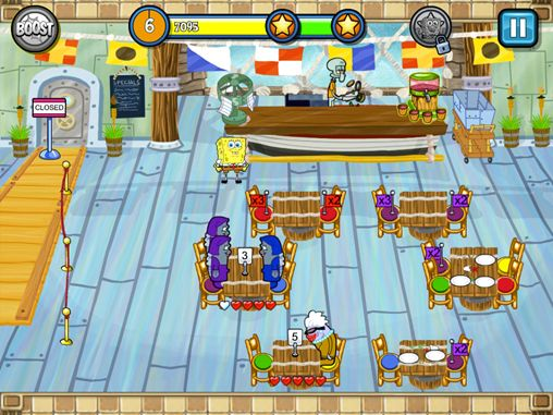 Free Sponge Bob: Diner dash download for iPhone, iPad and iPod.