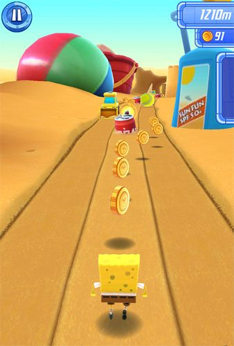 Screenshots of the Sponge Bob: Sponge on the run game for iPhone, iPad or iPod.