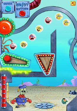 Screenshots of the SpongeBob Marbles & Slides game for iPhone, iPad or iPod.