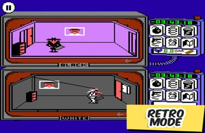 Screenshots of the Spy vs Spy game for iPhone, iPad or iPod.