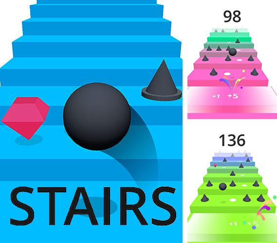 In addition to the game Any landing for iPhone, iPad or iPod, you can also download Stairs for free.