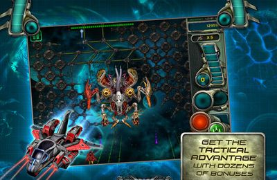 Screenshots of the Star Defender 3 game for iPhone, iPad or iPod.