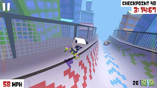 Screenshots of the Star skater game for iPhone, iPad or iPod.