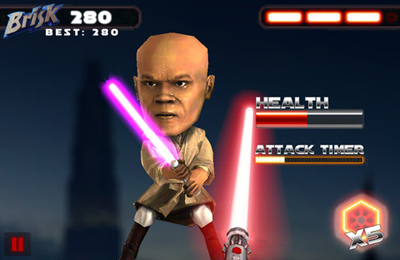 Capturas de pantalla del juego Star Wars: Brisksaber para iPhone, iPad o iPod.