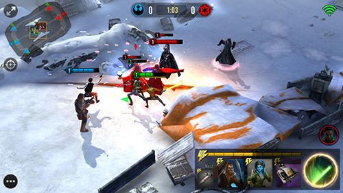 Capturas de pantalla del juego Star wars: Force arena para iPhone, iPad o iPod.