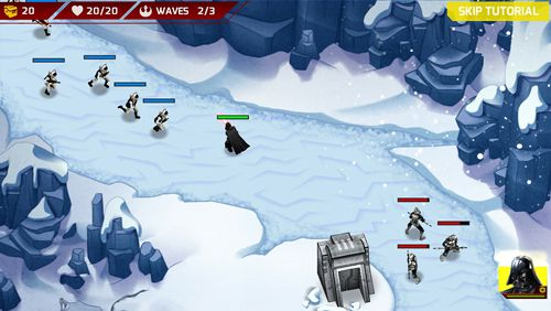Screenshots vom Spiel Star wars: Galactic defense für iPhone, iPad oder iPod.