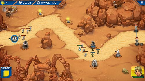 Скриншот игры Star wars: Galactic defense на Айфон.