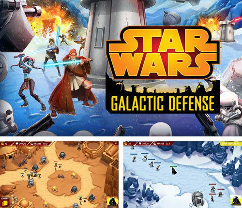 除了 iPhone、iPad 或 iPod 游戏,您还可以免费下载Star wars: Galactic defense, 。