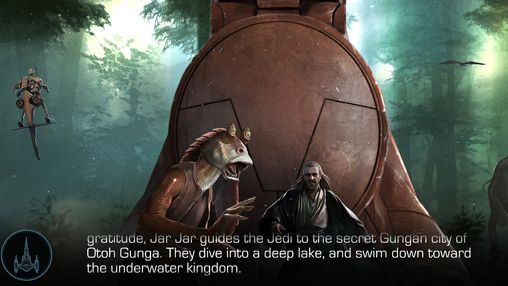 Screenshots of the Star wars journeys: The phantom menace game for iPhone, iPad or iPod.