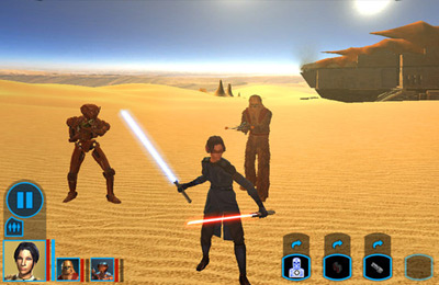 Геймплей Star Wars: Knights of the Old Republic для Айпад.