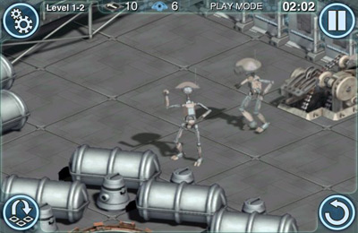 Capturas de pantalla del juego Star Wars: Pit Droids para iPhone, iPad o iPod.