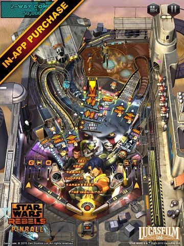 Screenshots of the Star wars. The force awakens: Pinball 4 game for iPhone, iPad or iPod.
