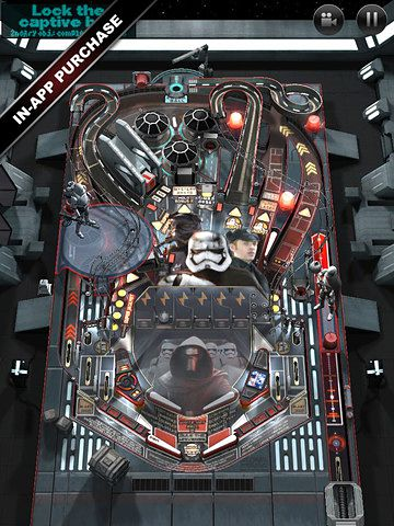 Скріншот гри Star wars. The force awakens: Pinball 4 на Айфон.