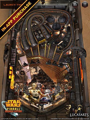 Screenshots vom Spiel Star wars. The force awakens: Pinball 4 für iPhone, iPad oder iPod.