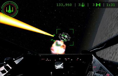 Screenshots of the Star Wars: Trench Run game for iPhone, iPad or iPod.