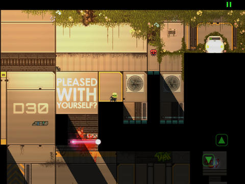 Capturas de pantalla del juego Stealth Inc. para iPhone, iPad o iPod.