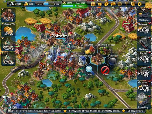 Capturas de pantalla del juego Steampower 1830: Railroad tycoon para iPhone, iPad o iPod.