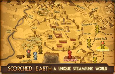 Screenshots of the Steampunk Tower game for iPhone, iPad or iPod.