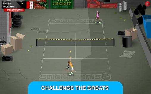 Screenshots of the Stick tennis: Tour game for iPhone, iPad or iPod.