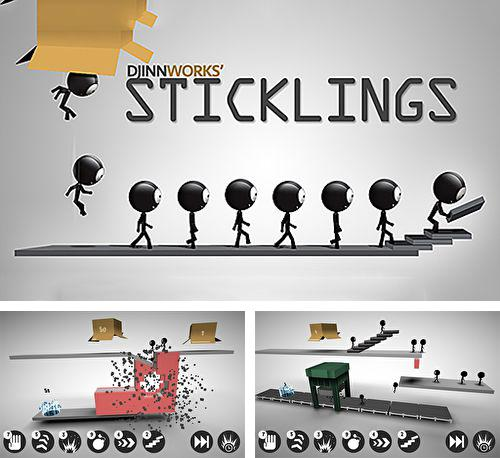 In addition to the game Bad Piggies for iPhone, iPad or iPod, you can also download Sticklings for free.