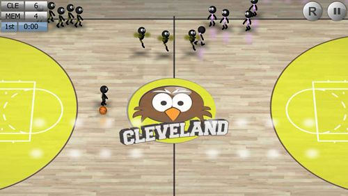 Descarga gratuita de Stickman basketball para iPhone, iPad y iPod.