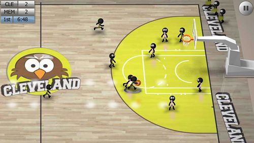 Écrans du jeu Stickman basketball pour iPhone, iPad ou iPod.