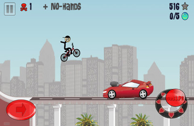Free Stickman BMX download for iPhone, iPad and iPod.