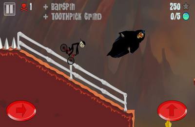 Screenshots of the Stickman BMX game for iPhone, iPad or iPod.