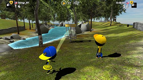 下载免费 iPhone、iPad 和 iPod 版Stickman disc golf battle。