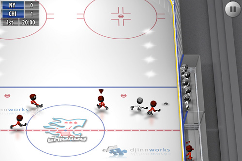 Capturas de pantalla del juego Stickman: Ice hockey para iPhone, iPad o iPod.