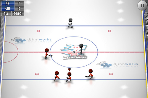 Screenshots of the Stickman: Ice hockey game for iPhone, iPad or iPod.