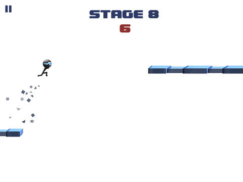 Descarga gratuita de Stickman: Impossible run para iPhone, iPad y iPod.