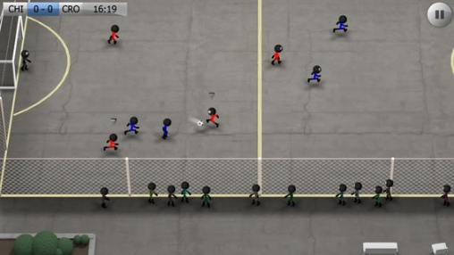 Capturas de pantalla del juego Stickman Soccer para iPhone, iPad o iPod.