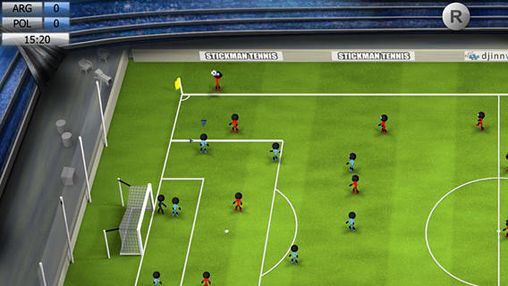 Screenshots of the Stickman soccer 2014 game for iPhone, iPad or iPod.