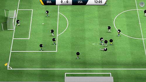 Screenshots of the Stickman soccer 2016 game for iPhone, iPad or iPod.