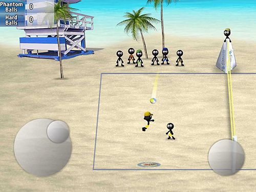 Screenshots of the Stickman volleyball game for iPhone, iPad or iPod.