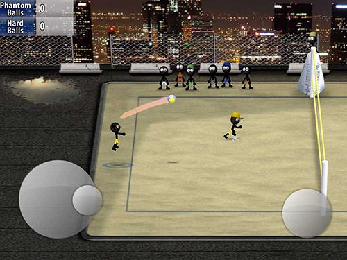 Écrans du jeu Stickman volleyball pour iPhone, iPad ou iPod.
