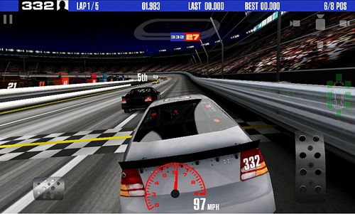 Игра Stock car racing для iPhone