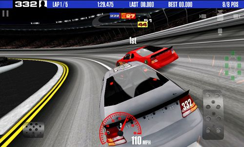 Screenshots vom Spiel Stock car racing für iPhone, iPad oder iPod.