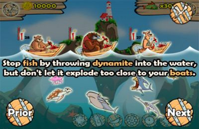 Écrans du jeu Stop Those Fish pour iPhone, iPad ou iPod.