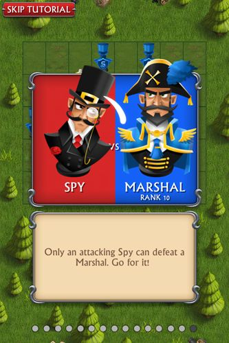 Screenshots of the Stratego: Single player game for iPhone, iPad or iPod.