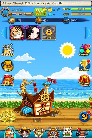 Download Strawhat pirates iPhone free game.