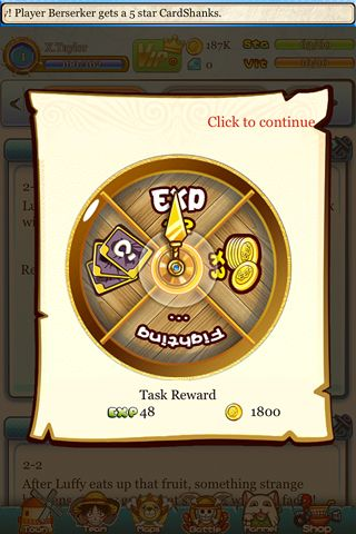 Screenshots of the Strawhat pirates game for iPhone, iPad or iPod.