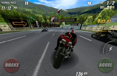 Screenshots of the Streetbike. Full blast game for iPhone, iPad or iPod.